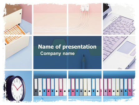 Business: Working Place PowerPoint Template #05740