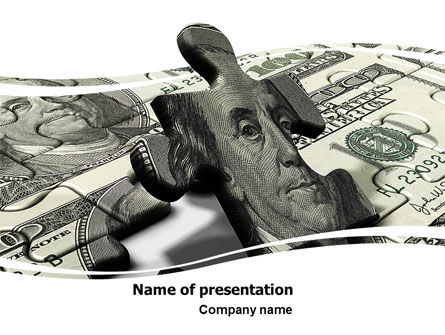 Dollar Bill PowerPoint Template, 05742, Financial/Accounting — PoweredTemplate.com