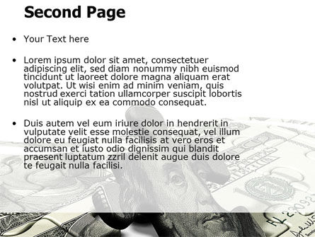 Dollar Bill PowerPoint Template, Slide 2, 05742, Financial/Accounting — PoweredTemplate.com