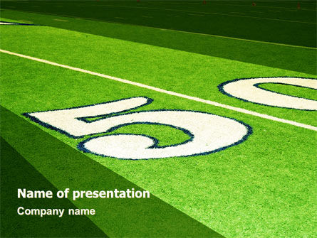 American Football Field PowerPoint Template, 05744, Sports — PoweredTemplate.com