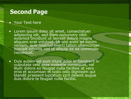 American Football Field PowerPoint Template, Slide 2, 05744, Sports — PoweredTemplate.com