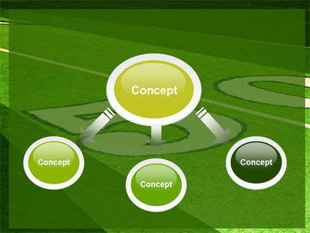 American Football Field Powerpoint Template Backgrounds