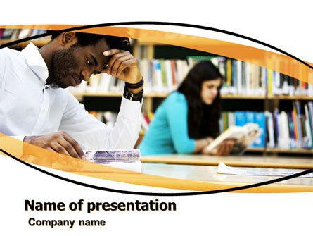 Reading Hall PowerPoint Template, 05747, Education & Training — PoweredTemplate.com