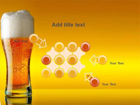 Goblet Of Beer Foaming PowerPoint Template Slide 10