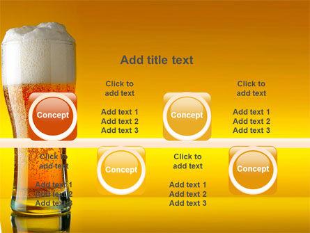 Goblet Of Beer Foaming PowerPoint Template Slide 18