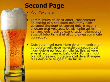 Goblet Of Beer Foaming PowerPoint Template, Slide 2, 05748, Food & Beverage — PoweredTemplate.com