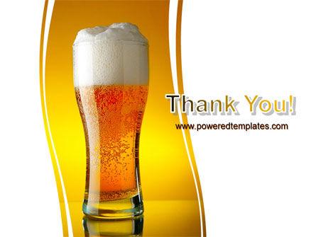 Goblet Of Beer Foaming PowerPoint Template Slide 20