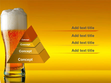 Goblet Of Beer Foaming PowerPoint Template, Slide 4, 05748, Food & Beverage — PoweredTemplate.com