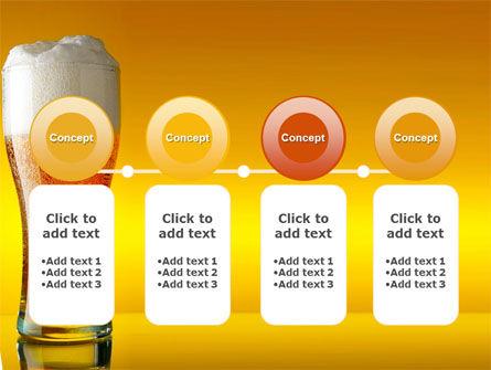 Goblet Of Beer Foaming PowerPoint Template Slide 5