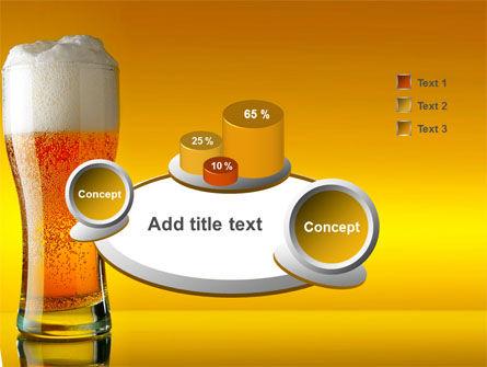 Goblet Of Beer Foaming PowerPoint Template Slide 6