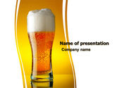 Food & Beverage: Goblet Of Beer Foaming PowerPoint Template #05748