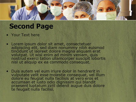 Medical Personnel In Hospital PowerPoint Template, Slide 2, 05749, Medical — PoweredTemplate.com