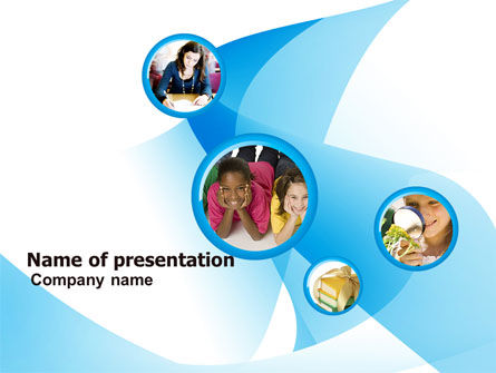 Kids Collage PowerPoint Template, 05750, People — PoweredTemplate.com