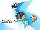 People: Modelo do PowerPoint - colagem de crianças #05750