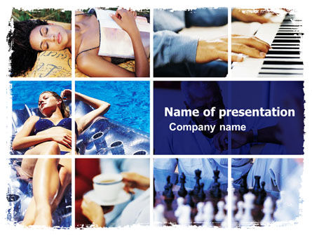 Relaxing Season PowerPoint Template, 05751, Health and Recreation — PoweredTemplate.com