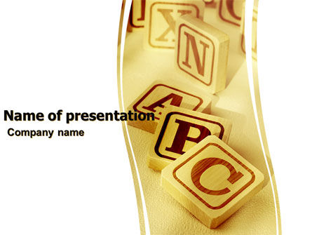 Word Game PowerPoint Template, 05752, Education & Training — PoweredTemplate.com