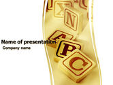 Education & Training: Word Game PowerPoint Template #05752