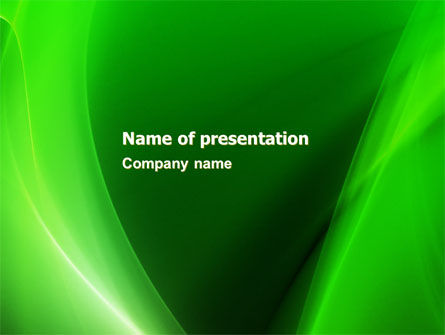 Emerald Green PowerPoint Template, 05753, Abstract/Textures — PoweredTemplate.com