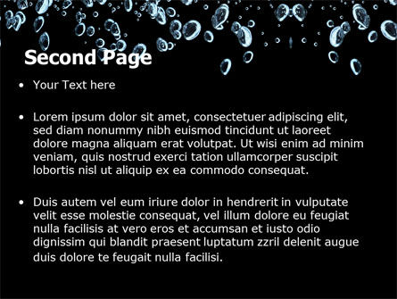 Bubbles In Dark Liquid PowerPoint Template, Slide 2, 05756, Nature & Environment — PoweredTemplate.com