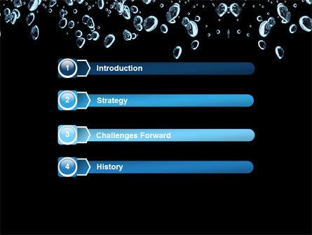 Bubbles In Dark Liquid PowerPoint Template, Slide 3, 05756, Nature & Environment — PoweredTemplate.com