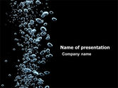Nature & Environment: Bubbles In Dark Liquid PowerPoint Template #05756