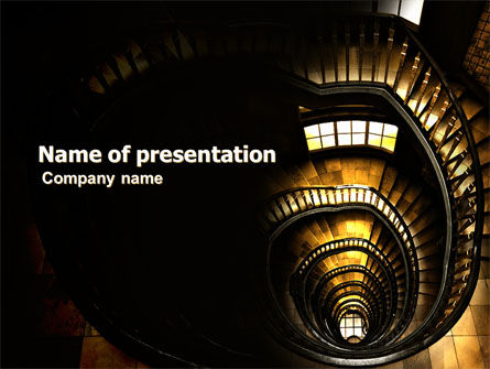 Corkscrew Staircase PowerPoint Template