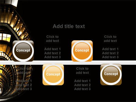 Corkscrew Staircase PowerPoint Template Slide 18