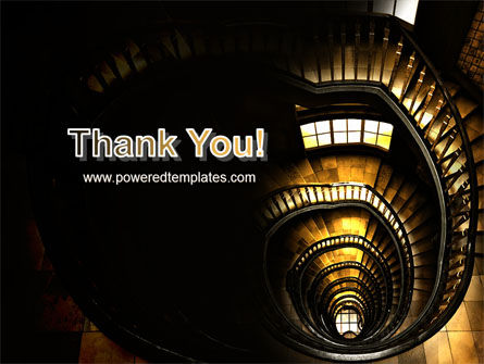 Corkscrew Staircase PowerPoint Template Slide 20