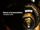 Construction: Modèle PowerPoint de escalier à tire-bouchon #05757