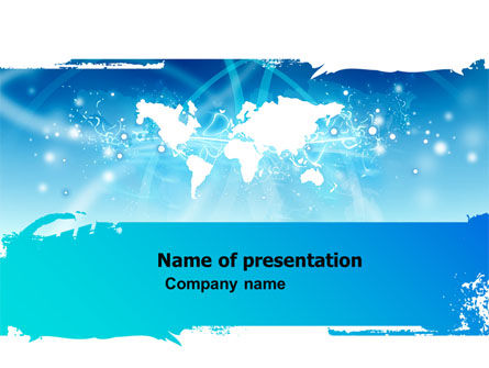 World Perspective Free PowerPoint Template, 05758, Global — PoweredTemplate.com