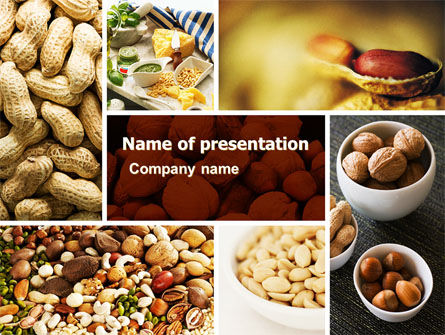 Food & Beverage: Nuts PowerPoint Template #05759