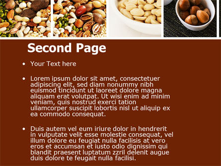 Nuts PowerPoint Template, Slide 2, 05759, Food & Beverage — PoweredTemplate.com
