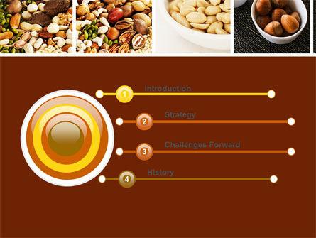 Nuts PowerPoint Template, Slide 3, 05759, Food & Beverage — PoweredTemplate.com