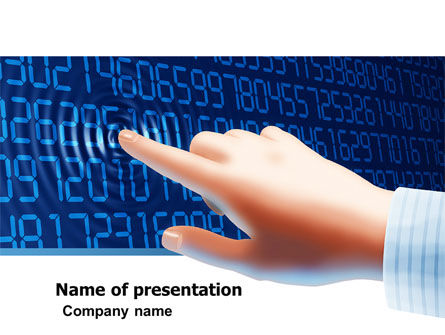 Digital Touch PowerPoint Template, 05760, Technology and Science — PoweredTemplate.com