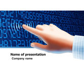 Technology and Science: Digital Touch PowerPoint Template #05760