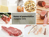 Careers/Industry: Food Protein PowerPoint Template #05761