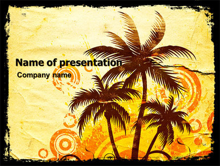 Careers/Industry: Palm Trees PowerPoint Template #05762