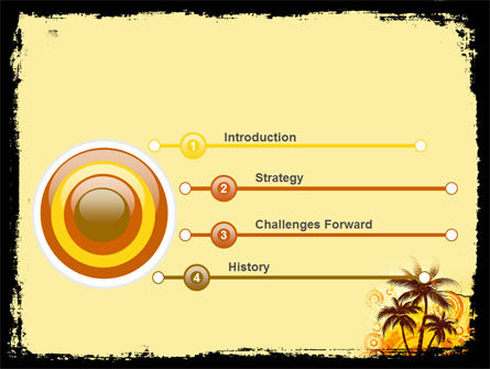 Palm Trees PowerPoint Template Slide 3