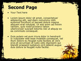 Palm Trees PowerPoint Template#2