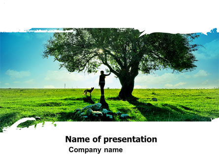 Walk PowerPoint Template, 05764, Nature & Environment — PoweredTemplate.com