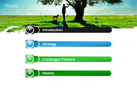 Walk PowerPoint Template, Slide 3, 05764, Nature & Environment — PoweredTemplate.com