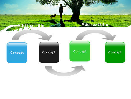 Walk PowerPoint Template, Slide 4, 05764, Nature & Environment — PoweredTemplate.com