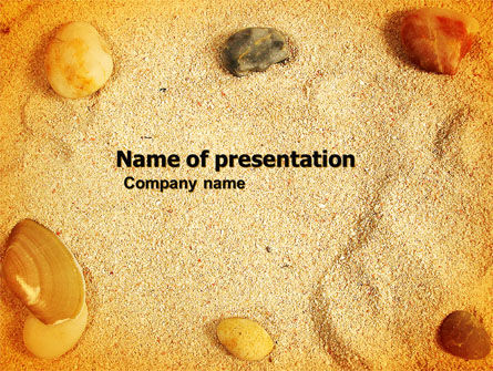 Careers/Industry: Beach Sand PowerPoint Template #05765