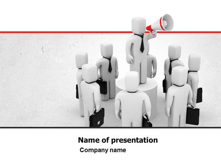 Business Concepts: Public Speaking PowerPoint Template #05767