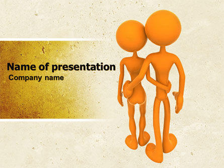 Medical: Couple PowerPoint Template #05768