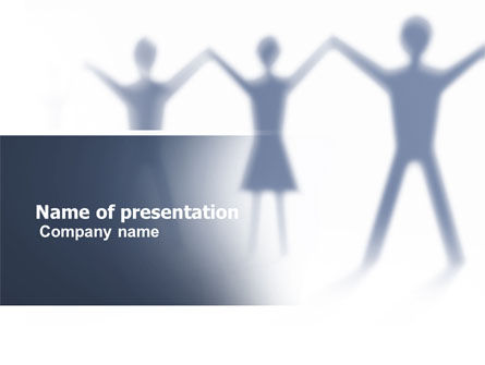 People Holding Hands PowerPoint Template