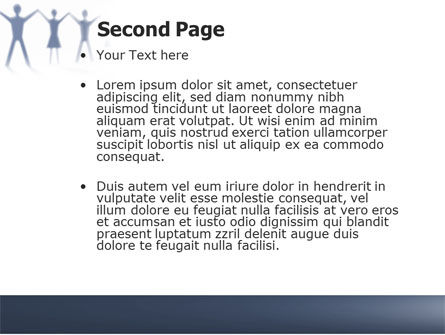 People Holding Hands PowerPoint Template, Slide 2, 05769, Religious/Spiritual — PoweredTemplate.com