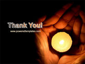 Candle In Hands PowerPoint Template#20