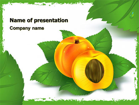 Peach PowerPoint Template, 05772, Food & Beverage — PoweredTemplate.com