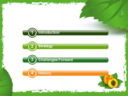 Peach PowerPoint Template, Slide 3, 05772, Food & Beverage — PoweredTemplate.com